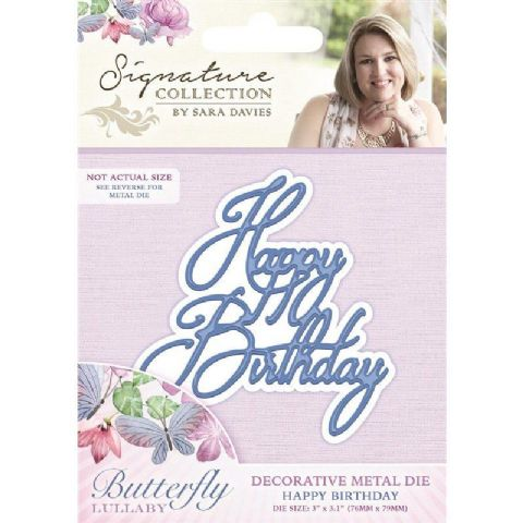 Sara Signature Butterfly Lullaby Collection - Happy Birthday Die